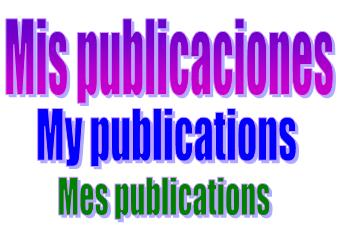 My publications